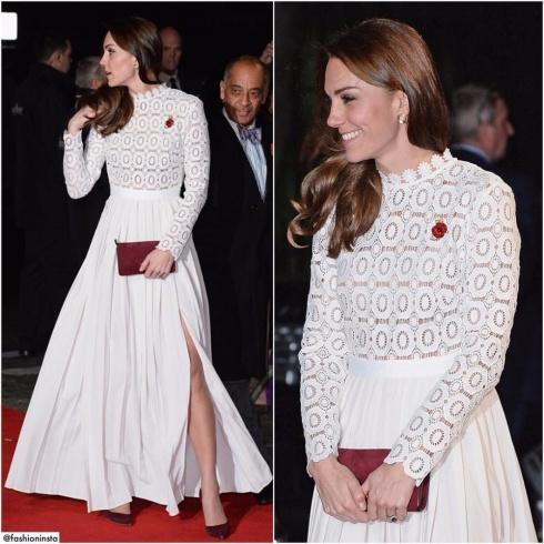 لجين عمران ترتدي فستان الدوقه كيت ميدلتون!