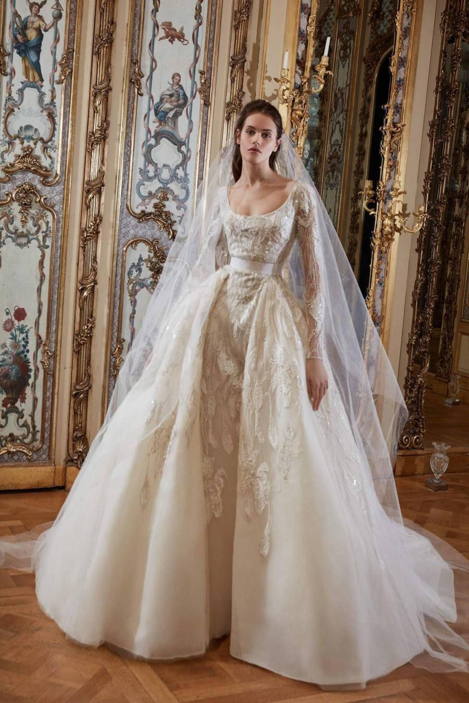 57e2b871d3331 بالصور- شاهدي أجمل فساتين زفاف من مجموعة إيلي صعب لربيع 2019 ...